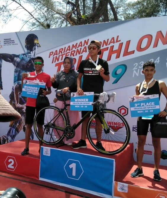 Atlet Kodam IV Naik Podium  Pariaman International Triathlon 2019